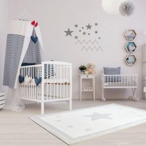 Dywan do pokoju dziecka z gwiazdą szary