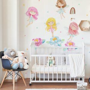 Naklejki na ścianę pastelowe wróżki DK392
