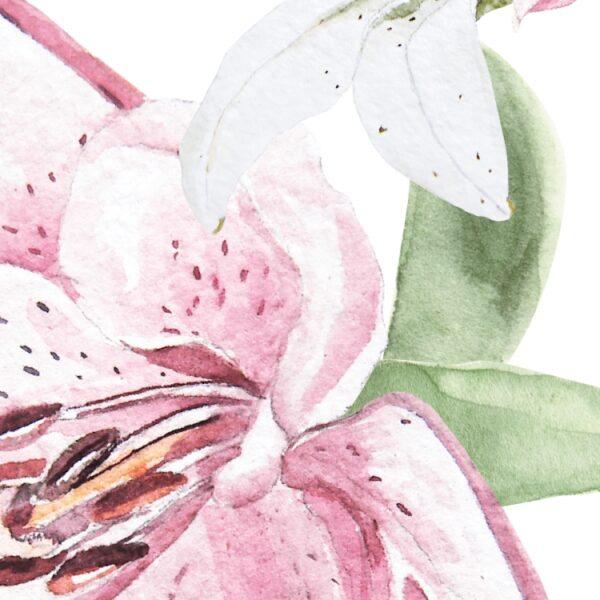 Naklejki na ścianę kwiaty małe lilie