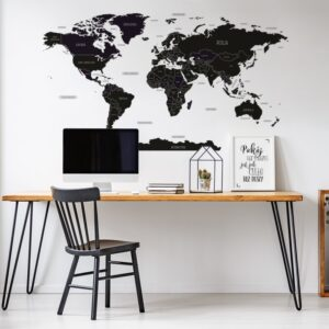 Naklejka na ścianę mapa świata DK391