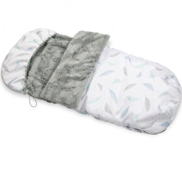 Śpiworek zimowy do wózka Plumes