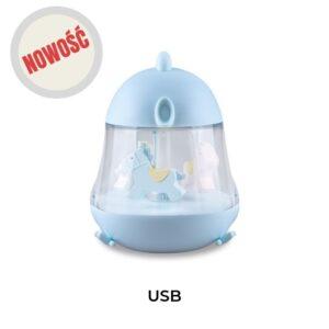 Lampka z pozytywką kurczak niebieska
