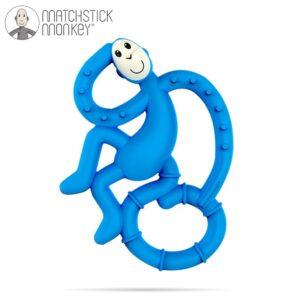 Gryzak niemowlęcy ze szczoteczką niebieski