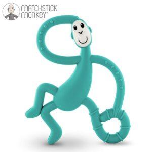 matchstick monkey dancing green terapeutyczny gryzak masujacy ze szczoteczka 300x300 - Gryzak masujący dla niemowląt zielony