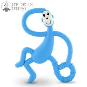 matchstick monkey dancing light blue terapeutyczny gryzak masujacy ze szczoteczka 300x300 - Gryzak masujący dla niemowląt jasny niebieski