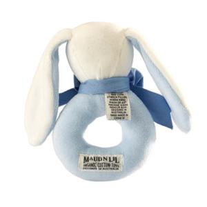 maud n lil oscar the bunny ring rattle grzechotka organiczna miekka.jpg 2 300x300 - Grzechotka organiczna Bunny Ring niebieski