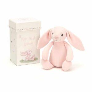 Maskotka mój pierwszy królik róż w pudełku 19 cm