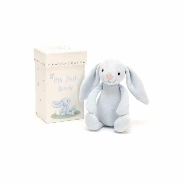 Mój pierwszy królik niebieski w pudełku 19 cm