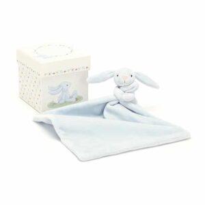 Szmatka króliczek niebieski w pudełku 23 cm
