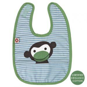 Niebieski śliniaczek niemowlęcy małpka