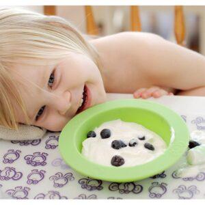oogaa green bowl lid silikonowa miseczka z pokrywka 5 300x300 - Miseczka dla dzieci z pokrywką zielona