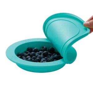 oogaa jewel blue bowl lid silikonowa miseczka z pokrywka 5 300x300 - Miseczka dla dzieci z pokrywką turkusowa