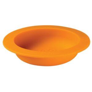 oogaa orange bowl lid silikonowa miseczka z pokrywka 2 300x300 - Miseczka dla dzieci z pokrywką pomarańczowa