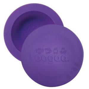 Silikonowa miseczka z pokrywką fioletowa