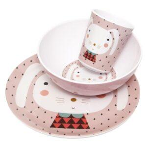 petit monkey miseczka z melaminy krolik i kropki 4 1 300x300 - Talerz dla dziecka królik i kropki