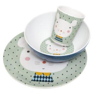 petit monkey miseczka z melaminy myszka i kropki 3 1 300x300 - Talerz dla dziecka myszka i kropki