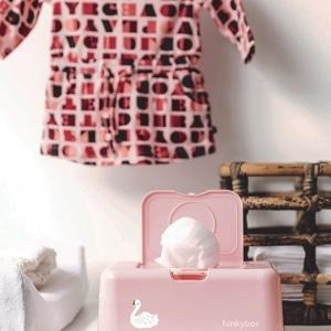 Pojemnik na chusteczki pink swan