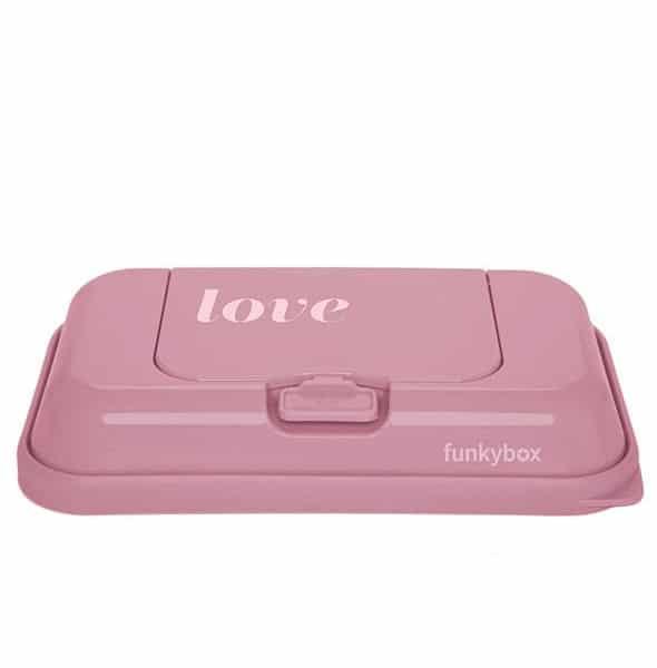 Pudełko na chusteczki to Go! Vintage Pink love