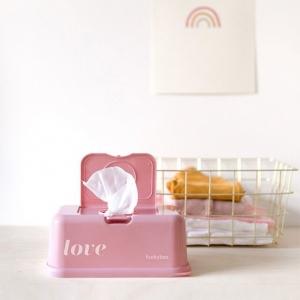 Pojemnik na chusteczki Vintage pink love