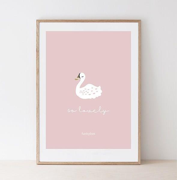 Plakat do pokoju dziecka Pink Swan