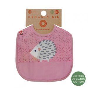Różowy śliniak niemowlęcy jeż