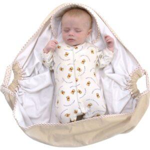 snugglebundl baby blanket barley cream 4 300x300 - Otulacz do fotelika baby blanket kremowy