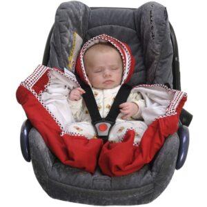 snugglebundl baby blanket poppy red 3 300x300 - Otulacz do fotelika kocyk czerwony