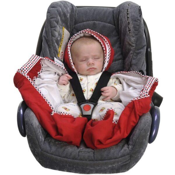 snugglebundl baby blanket poppy red 3 600x600 - Otulacz do fotelika kocyk czerwony