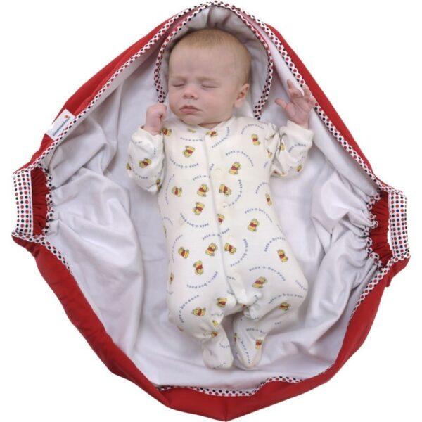 snugglebundl baby blanket poppy red 4 600x600 - Otulacz do fotelika kocyk czerwony