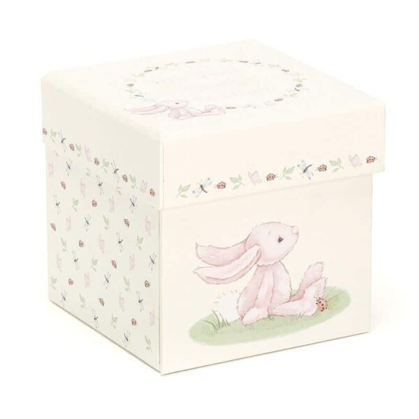 Szmatka przytulanka króliczek w pudełku 23 cm