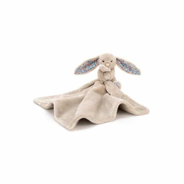 Szmatka przytulanka beżowy królik k.uszy 34x34