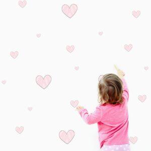 Naklejki pastelowe serca DK147