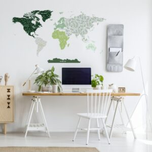 Naklejka mapa świata DK339