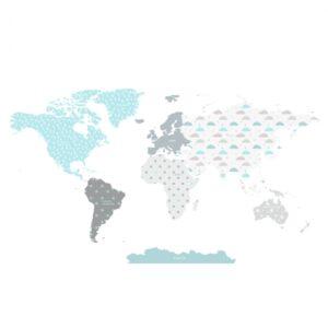 Naklejka mapa świata DK341