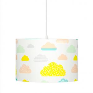 Lampa dziecięca pastelowe chmurki