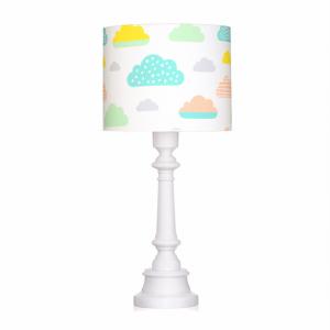 Lampa na stolik pastelowe chmurki