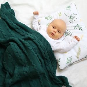 Kocyk dziecięcy bawełniany Green