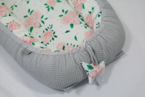 Kokon niemowlęcy bambusowy Roses