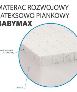 Materac z lateksem Baby Max
