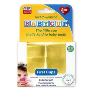 Pierwszy kubek dla dziecka żółty