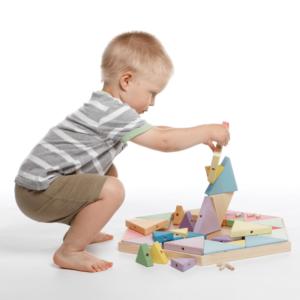 Układanka puzzle drewniane wieża