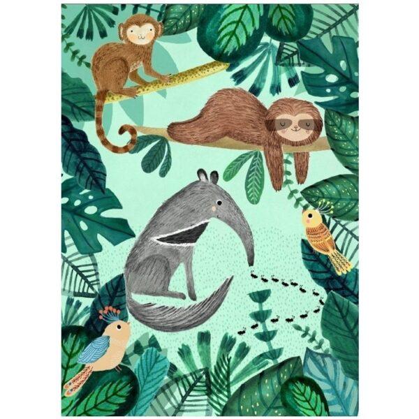 Plakat dziecięcy tropikalne leniwce