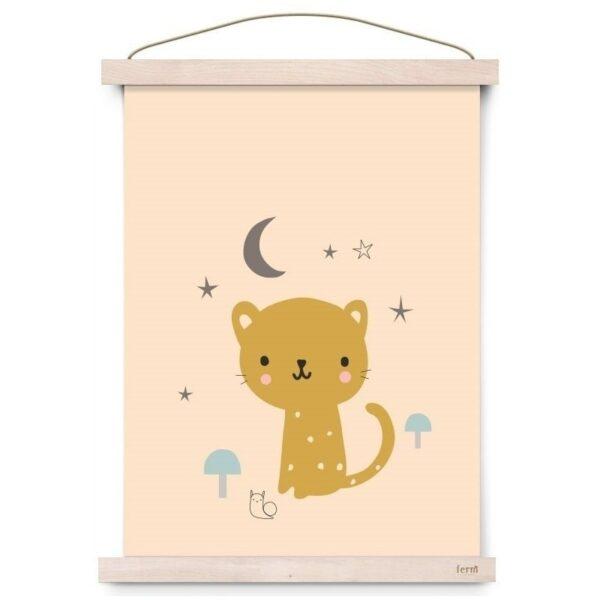 Plakat dziecięcy kotek Leopard