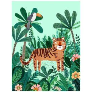 Plakat tropikalny tygrys