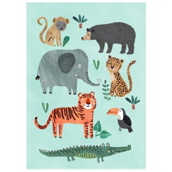 Plakat dziecięcy Wild Animals