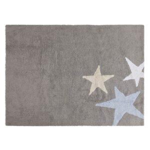 Dywan dziecięcy trzy gwiazdy niebieska