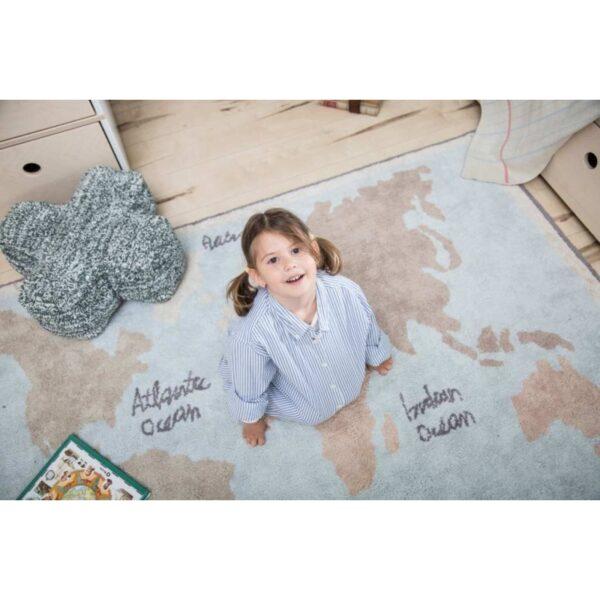 Dywan do pokoju dziecka Mapa