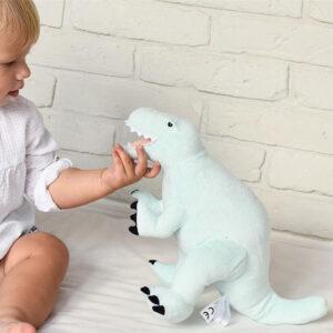 Pluszowy dinozaur Rex miętowy L