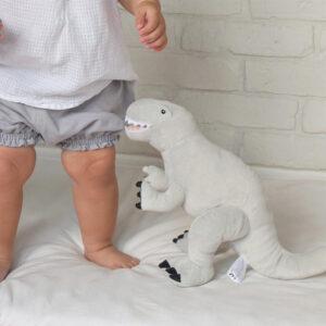 Pluszowy dinozaur Rex szary M