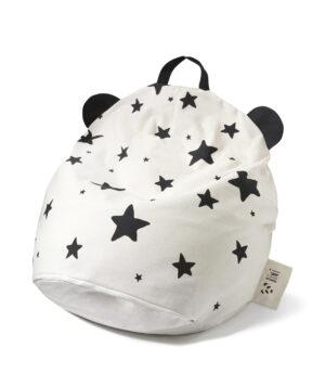 biniwithstars 300x356 - Pufa dziecięca panda i gwiazdy